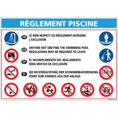 Signal tique piscine technic conseil for Panneau piscine