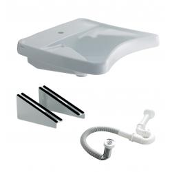 Lavabo ergonomique avec consoles fixes
